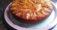 Fabulosa receta para Torta invertida de manzana. Una torta invertida de manzana tan rica y fácil de hacer, que una vez que la pruebes no vas a parar de comer.
