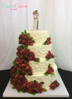 Berries and scrolls (fresh strawberries and raspberries)