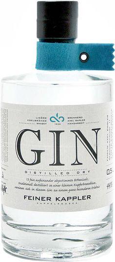 Gin von Kappler in der 0,5 liter Flasche mit 44% Vol. Alc.