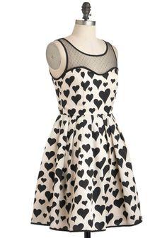 Heart Over Heels Dress, #ModCloth