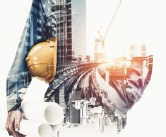 Future building construction engineering...   Premium Photo #Freepik #photo #business #technology #city #building Civil Engineering Design, Civil Engineering Construction, Architectural Engineering, Engineering Projects, Construction Wallpaper, Construction Images, Construction Business Cards, Ing Civil, Architecture Blueprints