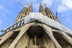Sagrada Familia Barcelona under construction