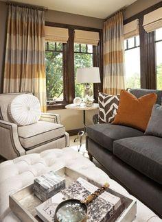 Gray and Tan Living Room Idea. Gray and Tan Living Room Idea. Living Room Orange, Living Room Grey, Home And Living, Living Room Furniture, Living Room Decor, Cozy Living, Small Living, Living Rooms, Interior Desing