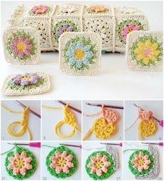 Crochet designing is a fantastic process in a sense that it is not time taking. Crochet Baby Blanket Free Pattern, Granny Square Crochet Pattern, Crochet Flower Patterns, Afghan Crochet Patterns, Diy Crochet And Knitting, Crochet Gratis, Free Crochet, Granny Square Häkelanleitung, Square Blanket