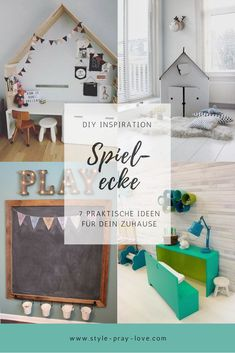 DIY inspiration for a play area. No matter whether children& room, living room or river . - DIY inspiration for a play area. No matter whether children& room, living room or hallway – - Play Corner, Kids Corner, Room Corner, Diy Inspiration, Decoration Inspiration, Boy Room, Kids Room, Maila, Baby Nursery Neutral