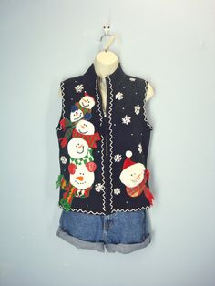 Vintage 80s Ugly Christmas Sweater Vest / by ShirleyBoutique