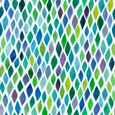 Watercolor seamless abstract hand-drawn pattern, endless modern background, abstract seamless repeat pattern with rhombs - stock vector Perfect Wallpaper, Love Wallpaper, Blue Shower Curtains, Blue Tapestry, Watercolor Wallpaper, Abstract Watercolor, Watercolour Painting, Wave Pattern, Self Adhesive Wallpaper
