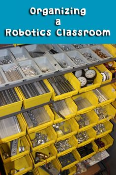 Getting your classroom organized for the beginning of the school year is an arduous task for even the most experienced teacher.  It can be even more demanding for those that teach robotics.