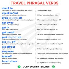 Phrasal Verbs about Travel