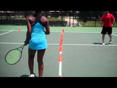 Tennis Fast Feet Cone Changes (set in straight line)