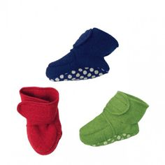 Boiled wool booties, various colours, Disana