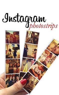 InstagramPhotostrip could be cute as farewell to hs friends with college info on back