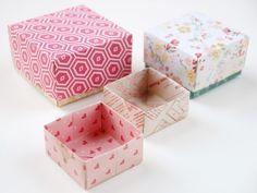 Auf folgende Seite erkennen Sie, wie kann man aus Papier eine wunderschöne origami Geschenkbox falten. Die Anleitung ist auch dabei.