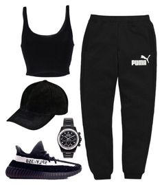 A fashion look from December 2016 featuring Roque tops, Puma activewear pants e adidas sneakers. Browse and shop related looks. # swag outfits Designer Clothes, Shoes & Bags for Women
