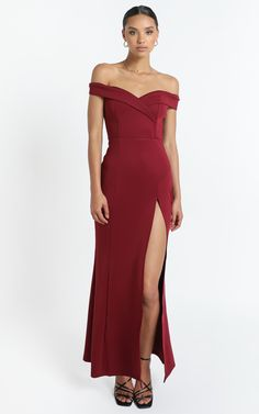 One For The Money Dress in Wine | Showpo Shoulder Sleeve, One Shoulder, Shoulder Dress, One For The Money, Gold Accessories, Nude Heels, Wine, Sexy, How To Wear