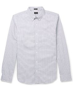 GQ.com: J.Crew ShirtI'm crazy about graph checks for spring. They create a lightness and add a little bit of snap to your outfit. This is for the guy that likes a button-up, but wants to move away from the gingham and get something a little fresher. Because the pattern is so quiet, it can really marry up to a lot of other textures—a horizontal stripe tie, a pinstripe suit, or khakis and a jean jacket. $75, available at Mr Porter.