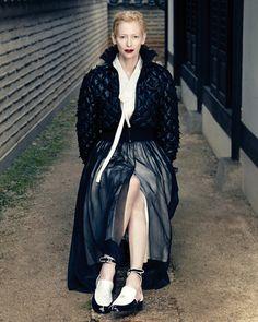 Tilda Swinton in Chanel for Vogue.