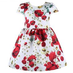 Floral Red Poppy Dress