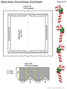 Elves' Workshop Page Christmas Colors, All Things Christmas, Christmas Home, Christmas Holidays, Christmas Paper Crafts, Plastic Canvas Christmas, Christmas Decorations, Diy Doll School Supplies, Santa's Village