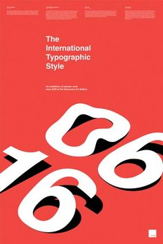 Applied Arts Mag - Awards Winners - International Typographic Style Exhibition Poster