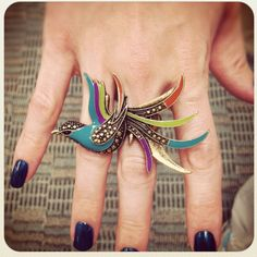 Beautiful bird ring from Maurice's.