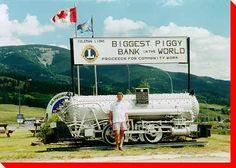 Biggest Piggy Bank in the World - Coleman, Alberta