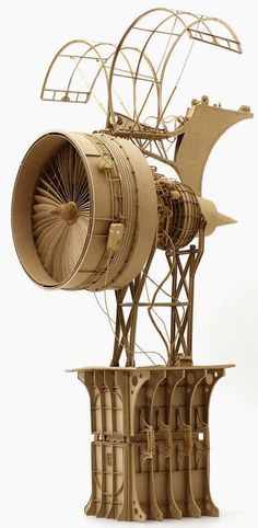 The General Melbourne-based artist Daniel Agdag has created an imaginative collection of steampunk flying machines using just cardboard and. Cardboard Sculpture, Cardboard Art, Sculpture Art, Cardboard Model, Steampunk Architecture, Machine Volante, Steampunk Kunst, Steampunk Accessoires, Modelos 3d