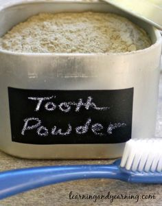 Before toothpaste there was . . . tooth powder, which can help teeth to remineralize and remove plaque. Learn how to make your own herbal tooth powder.: