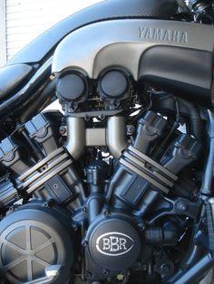 1988 Yamaha VMax Stealth / Black-Ops Ride - Bare Bone Rides
