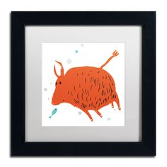 'Buffalo Love' by Carla Martell Matted Framed Graphic Art