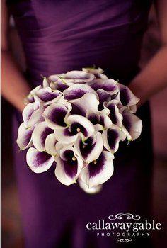 Wedding, Flowers, Purple, Dress