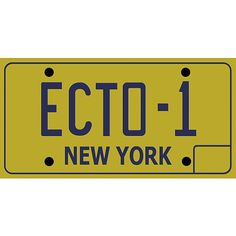 Ghostbusters ECTO1 License Plate