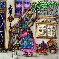 #coloringbookforadult #coloring #coloringmasterpiece #ilovecoloring #coloriage…