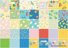 Baby Talk Jelly Roll for Benartex Fabrics - Benartex Fabrics - Benartex
