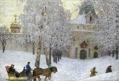 """""""Winter Morning"""" by Sergey Evgrafovich Lednev-Schukin"""
