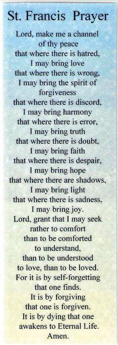 Saint Francis Prayer AA | Item #C-Recovery Bookmarks-10