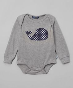 Another great find on #zulily! Gray Whale Bodysuit - Infant #zulilyfinds