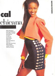 "Vogue UK February 1988  ""Radical Chicana""  Model: Naomi Campbell  Photographer: Alex Chatelain http://supermodelobsession.tumblr.com"