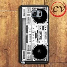 Silver Boombox Samsung Galaxy Note 5 Case