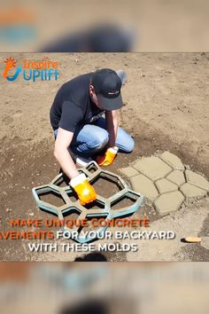 garden paths Garden Path Maker Mold Garden Path Maker Mold is a paving mold used to make a cement (or red mud) garden path. It consists of irregular holes, which can fill the cement slur