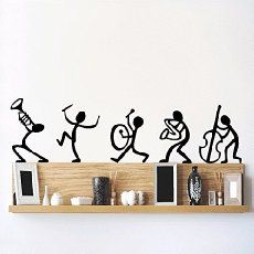 DeStudio Happy Band, Multi Color, Wall Stickers (Wall Covering Area : 90cm X 23cm)