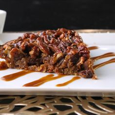 Pecan Pie with Bacon Crust + Caramel Drizzle - Predominantly Paleo