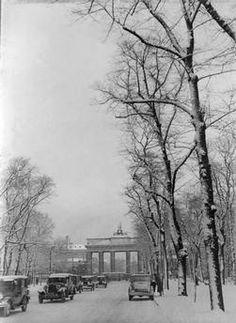 Berlin im Winter 1930 Die Charlottenburger Chaussee