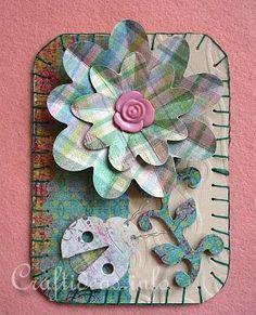 Artist Trading Card Craft - Romantic Spring ATC
