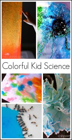 Ten colorful science activities for kids- you HAVE to see the colored ants!