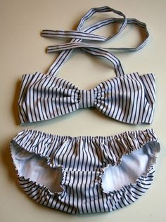 Add a cute bow like this to vamp up any dress/shirt/swim suit top