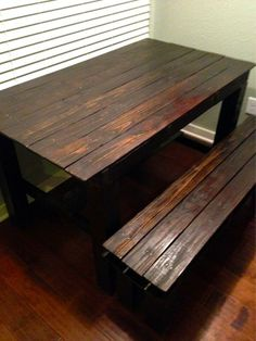 One Of Our Pallet Farmhouse Tables U0026 Benches Stained Dark Red Mahogany. If  You Like