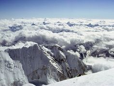 Mount Everest Summit. View from the top of the world