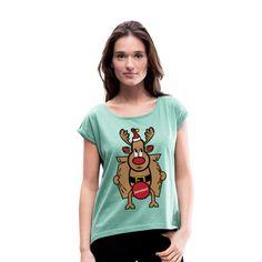 Dirty Rudolph zu Weihnachten als Geschenk. Dirty Rudolph - zensiert. Rudolph überzeugt mit seiner roten Nase. Ein ideales Geschenk zu Weihnachten, Neujahr und Geburtstag für Weihnachts Liebhaber und Ungly Xmas Fans. In verschiedenen Farben #rudolph #the #rednose #ugly #xmas #love #christmas #germany #weihnachten #merrychristmas #christmastime #advent #spreadshirt #tshirt #fashion #style #hoodie #weihnachten #fashion #geschenkideen #geschenke Advent, Tops, Women, Fashion, Red Nose, Cool Shirts, Gifts For Women, Women's T Shirts, Moda