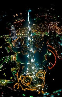 View from above. Wow Dubai, UAE